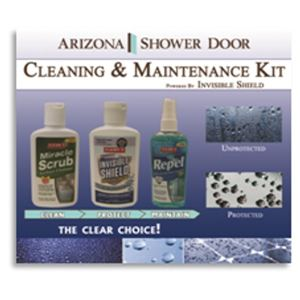 Picture of ASD Cleaning and Maintenance Kit includes: 4oz Miracle Scrub (CL106), 4oz Invisible Shield (CL107),                                                                                                   4oz Repel Glass and Surface Cleaner (CL108).-CLCMK