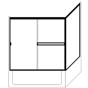 Picture of Fits Opening: Width (in) 60 X 36/Height (in) 57-3/8 - TE-90-TE396X57